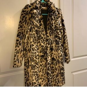 Alice + Olivia Faux Fur Leopard Coat